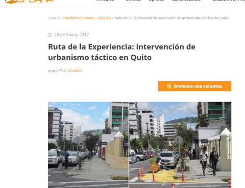 Publicatie op Plataforma Urbana