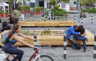 public space and biking in Quito